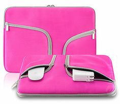 """PINK Neoprene Soft Sleeve Case for MacBook 15.4"""" Pro A1286 and A1398"""