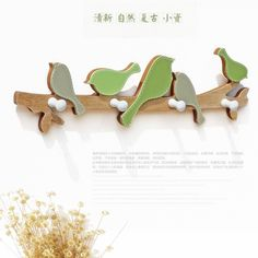 Cheap clothes hanger holder, Buy Quality hat holder directly from China clothes holder Suppliers: New Creative Wood Bird Hook Lovely Child Room Bedroom Hanger Wall Decoration Hanging Clothes Hat Hook Key Holder