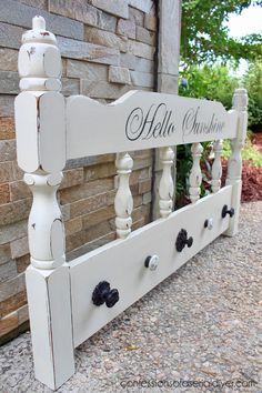 painted furniture headboard to coat organizer upcycle chalk paint home decor painted furniture repurposing upcycling wall decor - March 02 2019 at Redo Furniture, Home Furniture, Repurposed Headboard, Old Headboard, Painted Furniture, Headboard Benches, Upcycled Furniture, Home Decor, Furniture Makeover