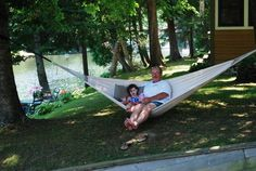 Hammock Sky Brazilian Double Hammock - Two Person Bed for Backyard, Porch, Outdoor and Indoor Use - Soft Woven Cotton Fabric for Supreme Comfort (Natural): Garden & Outdoor This post contains promotion