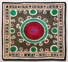 Bolinpush suzani, Samarkand, Uzbekistan, 20th c.