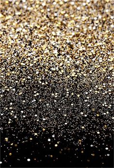 Gold Black Prom Party Photography Backdrop - 10(W)X9(H)FT(3X2.75M)