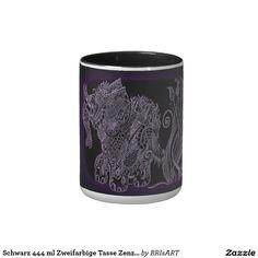Schwarz 444 ml Zweifarbige Tasse Zenzia elefant Tangled, Mugs, Tableware, Shop, Drawing S, Black, Dinnerware, Rapunzel, Tumblers