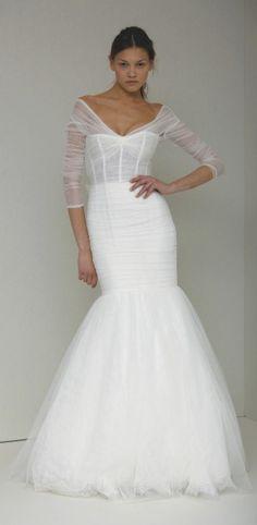 FAVORITE wedding dress ever, add a little sparkle belt and tah dah! ... monique lhuillier is amazing