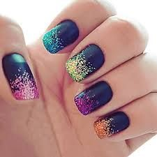 Dandelion nail art may be a widespread flower nail art round the world with young women perpetually eager at obtaining cute nail art styles, all bearing th Get Nails, Matte Nails, Love Nails, How To Do Nails, Glitter Nails, Pretty Nails, Hair And Nails, Sparkle Nails, Gradient Nails