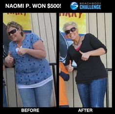 """::03/06/13:: Before she lost 122 lbs., Naomi had a long list of health issues and took handfuls of pills every day. Luckily she found #Shakeology & #ChaLEAN Extreme. --> """"My life has changed in ways I can't even put into words. The Coaches and people I have met through Beachbody are so positive."""" SEE HER FULL STORY!"""