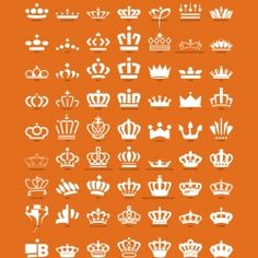 The poster shows all crowns in the logos of royal Dutch companies, which are all different from each other.