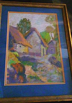 Hey, I found this really awesome Etsy listing at https://www.etsy.com/listing/228421848/vintage-village-of-cottages-framed