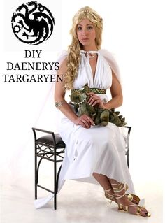 DIY - How to create a Daenerys Targaryen form Game of Thrones Costume #halloween