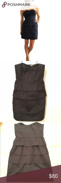 J.Crew layered black dress. SO CUTE! MY FAVORITE LBD! J. Crew Black Cotton Layered Dress! Excellent condition! 100% cotton. Lined. Can be worn casual or dressy. Tiered layering details. Sweetheart neckline. Concealed back zipper. Fitted. Falls above the knee. Very versatile. J. Crew Dresses Mini