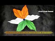 DIY Republic Day Badge/Indian Tricolor Flag Badge/26th Jan craft ideas | Patriotic brooch pin - YouTube