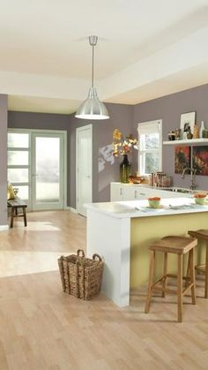 Sherwin-Williams announced Poised Taupe (SW as the 2017 Color of the Year. Not cool or warm, or gray or brown, Poised Taupe is a weathered, woodsy neutral bringing a sense of coziness and harmony that people are seeking. Open Kitchen Diy, Taupe Kitchen, Kitchen Decor, Kitchen Colors, Kitchen Ideas, Murs Taupe, Layout Design, Design Color, Interior Paint Colors
