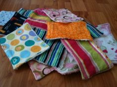 DIY Cloth Baby Wipes or Washcloths. Great way to re-purpose towels and receiving blankets.
