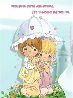 precious moments images clipart | AMISTAD Precious Moments | Tarjetas Postales FRASES