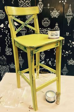 IKEA hack with Annie Sloan Chalk Paint  Napoleonic Blue & English Yellow with Dark Wax
