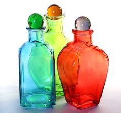 colored bottles