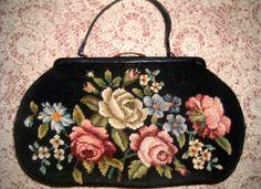 Large VINTAGE DOROTHY C PUTNAM carpet bag by TheShituationRoom, $95.00