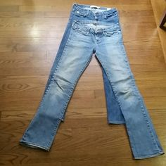 2 pairs Abercrombie jeans girls size 12 Size 12 girls with stretch great condition,  no rips Abercrombie  Jeans Straight Leg