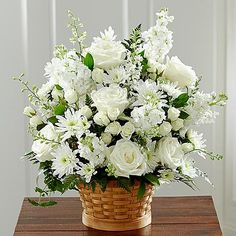 Send your condolences with funeral flowers. Wreaths, crosses, baskets as well as large standing funeral sprays and casket sprays. Condolence Flowers, Sympathy Flowers, Funeral Floral Arrangements, White Flower Arrangements, White Roses, White Flowers, Cut Flowers, Remembrance Flowers, Memorial Flowers