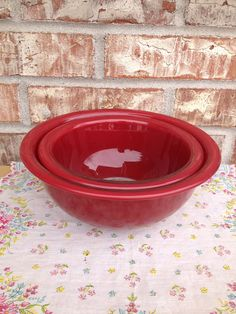 Three Vintage Pyrex Nesting Bowls with Clear Bottoms Safe for Oven ...