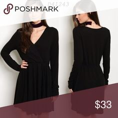 Long sleeve black dress Brand new! Available size:small, medium, large Dresses Long Sleeve