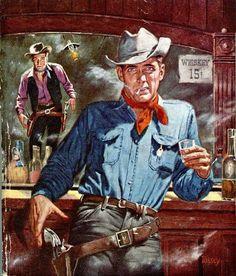 Cowboy Art, Cowboy And Cowgirl, Pablo Escobar Poster, Westerns, Gangster, Cinema, Western Comics, War Comics, West Art
