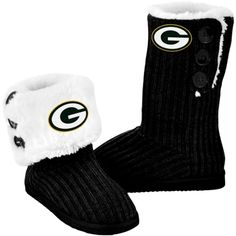 Green Bay Packers Boot Slippers..yes please! I want these!
