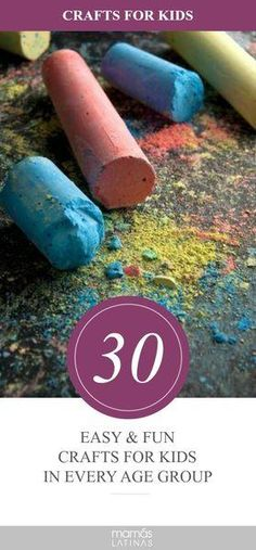 30 Easy crafts that will keep kids entertained 30 Easy and fun crafts for kids of all ages. Crafts For Kids To Make, Easy Crafts For Kids, Craft Activities For Kids, Projects For Kids, Art For Kids, Craft Projects, Summer Activities, Sensory Activities, Outdoor Activities