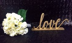 This sweet Love sign is perfect for your reception! Place it on your table or just for decoration somewhere in the venue. It will also look