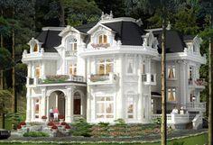 Impressive white mansion