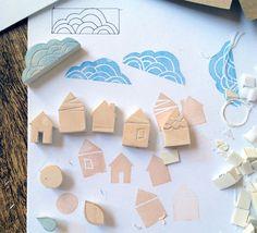 ¡Haz tus propios sellos de goma!! ¡Me encanta! :) Sellos de goma caseros para dibujos, invitaciones y felicitaciones