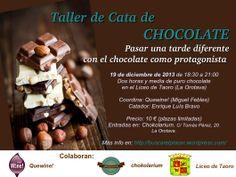 Nuevo taller de cata y degustación de chocolate en el Liceo de Taoro. La Orotava. Tenerife