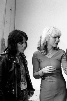 Debbie Harry and Joan Jett