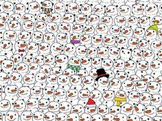 Can You Spot The Panda Hiding Among All The Snowmen?