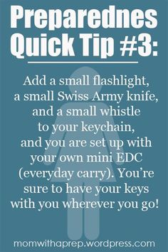 Preparedness Quick Tip: Create a Mini EDC on Your Keychain {Mom with a Prep}