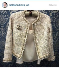 Used Luxury Item: Ткани Шанель – Ярмарка Мастеров – Prime to Know Chanel Jacket Trims, Chanel Style Jacket, Chanel Fashion, Couture Fashion, Mode Outfits, Fashion Outfits, Mode Bcbg, Mode Costume, Chanel Dress