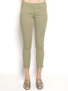 40WEFT DONNA MELITAS - Pantalone Chinos Verde Pantaloni - TRYMEShop