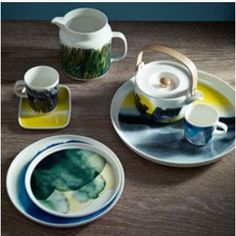 Here is the Collection of this stunning free flowing water colour pattern, just beautiful! Weather Diary Collection by Marimekko.