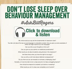 bill rogers behaviour management Advance organiser topic bill rogers behaviour management sub-topics prevention, positive correction, consequences, whole school behaviour management plan.