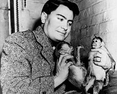 the Reverend Jim Jones and his monkey, Mr. Muggs
