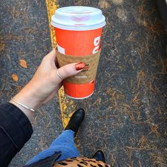 """Olivia Anderson on Instagram: """"Lately I have been running on dunkin, cute fall nails, and this 60 degree weather we have been having. I've been wearing @essie 'rust-…"""" Cute Nails For Fall, Fall Nails, 60 Degrees, Essie, Rust, Weather, Running, How To Wear, Instagram"""