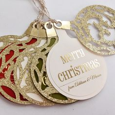 Personalized Christmas gift tags