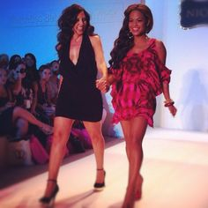 Walking the runway with Christina Milian at MBFW in Miami #VeetSwim
