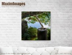 Art Print of Water purification basin Tsukubai at Shusui-tei Japanese tea house by a pond in Kyoto Buy this Wall Art at MaximImages Wall Art Prints, Fine Art Prints, Canvas Prints, Zen Home Decor, Japanese Tea House, Quality Photo Prints, Water Purification, Fine Art Paper, Kyoto