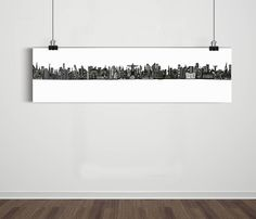Poster Super Panorâmico World Skyline 01 / Artista Sergio Piancó