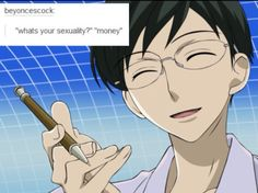 I laughed WAY to hard in the middle of class. >.< Kyoya Ootori - OHSHC