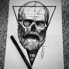 Drawing skull fredao Oliveira