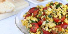 [Tex-Mex Grilled Sweet Corn & Tomato Salad] Love this salad! Grilled corn is basted with the salad dressing. Salad is simple to make and the dressing is light allowing flavors of veggies to shine. I did add cucumber [in abundance in the garden!] which blended in beautifully.  ****