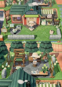 I've been working on a little outdoor extension to my Able Sisters! - - Post with 0 votes and 82394 views. I've been working on a little outdoor extension to my Able Sisters! Animal Crossing 3ds, Animal Crossing Villagers, Animal Crossing Qr Codes Clothes, Animal Crossing Pocket Camp, Animal Games, My Animal, Freeks And Geeks, Theme Nature, Ac New Leaf