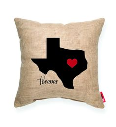 """""Heart Texas"""" Decorative Throw Pillow"
